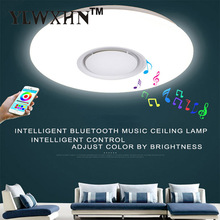 Lustres De Sala Control Rgb Dimmable 36w Led Ceiling Light With Bluetooth & Music 90-260v Modern Lamp For -20 Square Meters