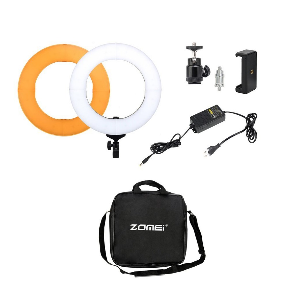 ZOMEI Photography Lighting Photo Studio Kit LED Ring Light For Professional Camera Phone Video 14inch 18inch 5500K EU plug