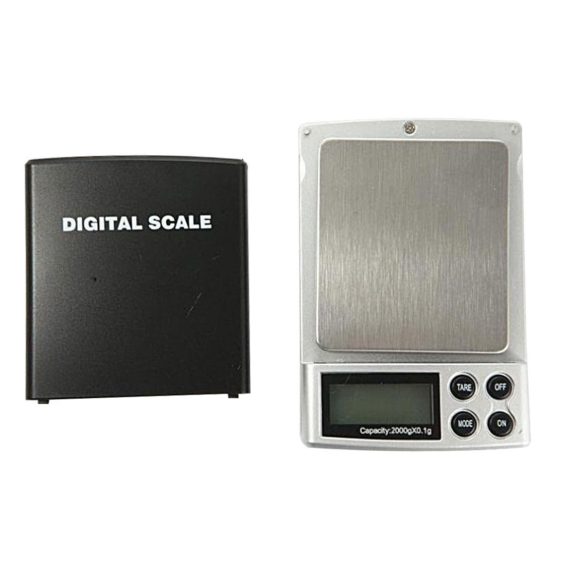 Tasche Elektronische Digitale Waage Schmuck 2000g x 0,1g Wiegen Küchenwaagen Gramm Balance LCD Display