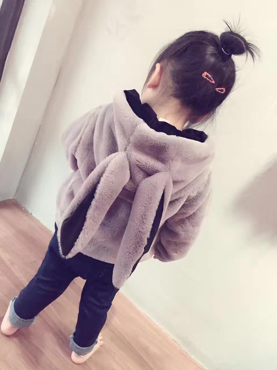 Girls Jackets & Coats New 2016 Arrivals Fashion Hooded Thick Warm Parka Down Bunny Ear Kid jacket Children Outerwears for Winter casual 2016 winter jacket for boys warm jackets coats outerwears thick hooded down cotton jackets for children boy winter parkas