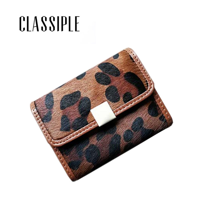 Small Lady Card Wallet Genuine Leather Leopard Horse Hair Women Card Holder Hasp Women Cardholders Female Mini Purse 2019 Newest