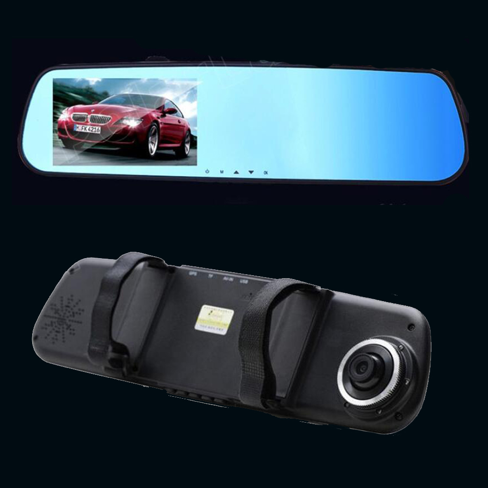 140 Degree wide viewing angle 4.3 inch Video Recorder Dash Cam Full HD 1080P Rearview Mirror