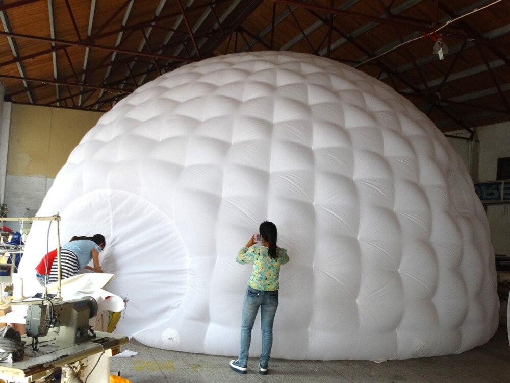 Tienda de campaña inflable interior blanco exterior negro con forma - 2