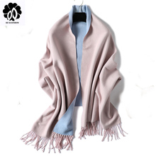 REALSISHOW Cashmere Scarf 2019 New Winter Women Scarves Fashion Solid Double-side Shawl and Wraps Bandana Female Thicken Tassel