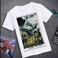 Envío libre más el tamaño de grasa versión europea 4xl 5xl 6xl 7xl 8xl lycra del algodón del o-cuello de manga corta para hombre Casual camiseta de la marca