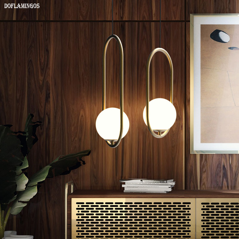 2019 NEW LOFT industrial style restaurant chandelier Nordic personality creative coffee shop bar oval bed glass