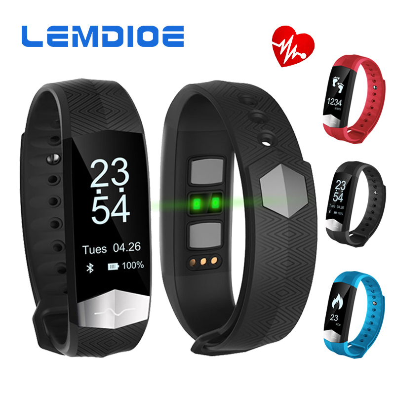 LEMDIOE CD01 Bluetooth Smart Band ECG Heart rate Blood pressure monitor Smart wristband Fitness Bracelet For IOS Android phones dawo ecg smart bracelet blood pressure smart wristband heart rate temperature pedometer bluetooth fitness band for ios android