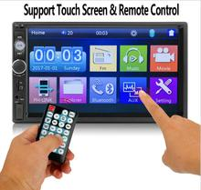 """AZGIANT 2 din автомобильных аудио стерео радио мультимедийный плеер 7 """"HD MP5 Сенсорный экран цифровой Дисплей Bluetooth USB FM Авторадио"""