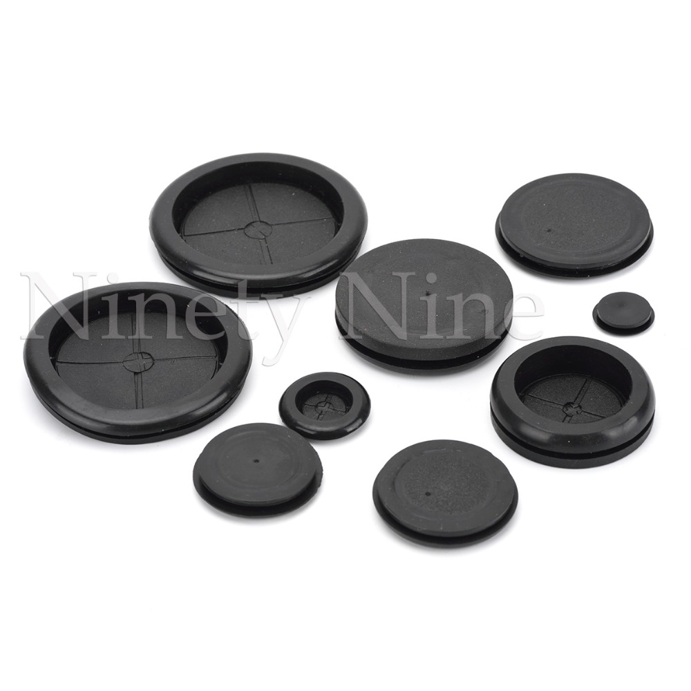 5pcs Wire washers Black Rubber 45mm Dia Simple Side washers