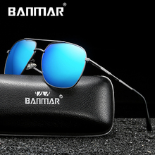 BANMAR DESIGN Men Classic Square Polarized Sunglasses Driving Shield Sun glasses UV400 Protection Eyeglasses Oculos