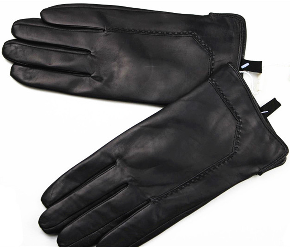 4be3d818deeec male sheepskin Imported leather gloves soft and delicate high grade leather  gloves geometric pattern style velvet lining warm-in Men's Gloves from  Apparel ...