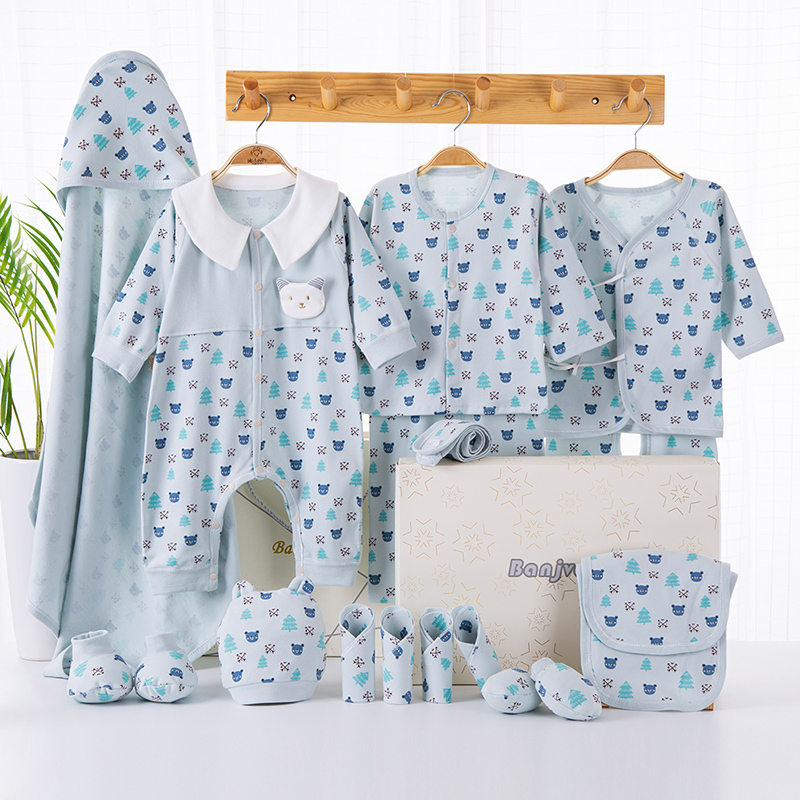 Image 4 - Cartoon Newborn Clothes Baby Gift Set Cotton New Born Baby Girl Boy Clothes Infant Clothing Baby Outfit Newborn Set No Box-in Clothing Sets from Mother & Kids