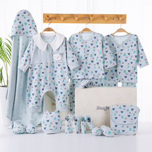 Image 4 - Cartoon noworodka ubrania zestaw prezentowy dla dziecka bawełna noworodki dziewczynka chłopiec ubrania dla niemowląt odzież ubranko dla dziecka noworodka zestaw bez pudełka