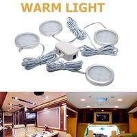 led warm 4x 12V Interior LED Spot Light Warm Light For Camper Van Caravan Motorhome Lamp (1)