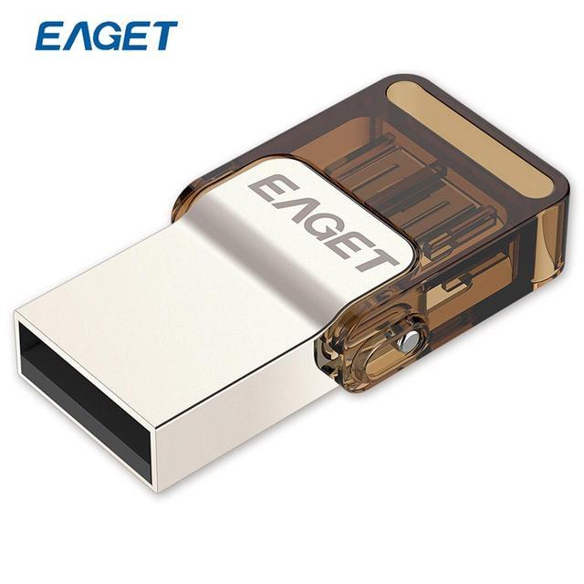 EAGET V9 Official Licensed USB Flash Drive Micro USB OTG 8GB 16GB 32GB Smart Phone Pendrive Memory USB Stick 16 gb 32 g ES Stock
