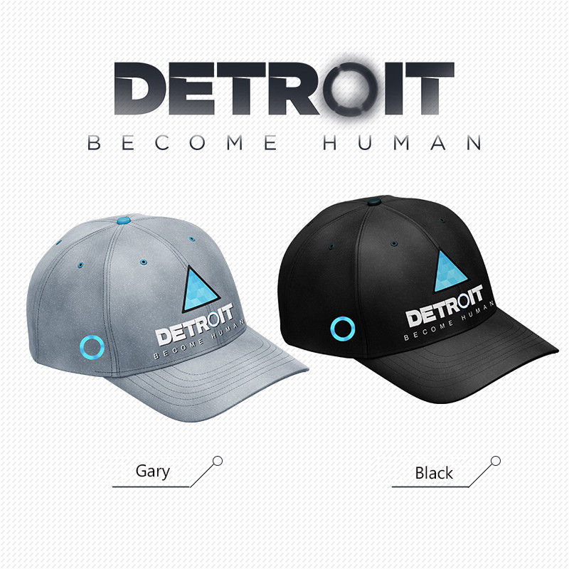 New Game Detroit Become Human Baseball Cap Hat Twill Snapback Cosplay Props Unisex TOP