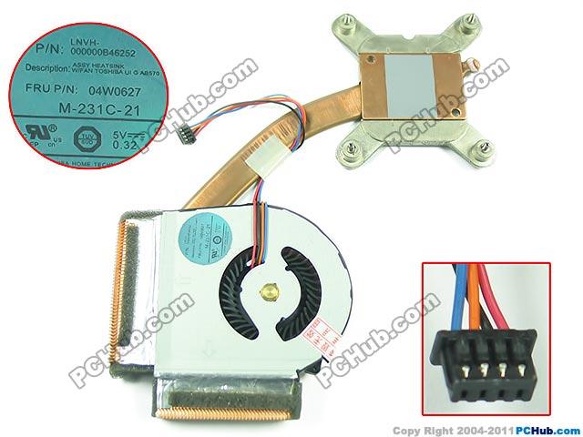 Free Shipping For 04W0627, M-231C-21 DC 5V 0.32A 4-wire 4-pin Heatsink Fan