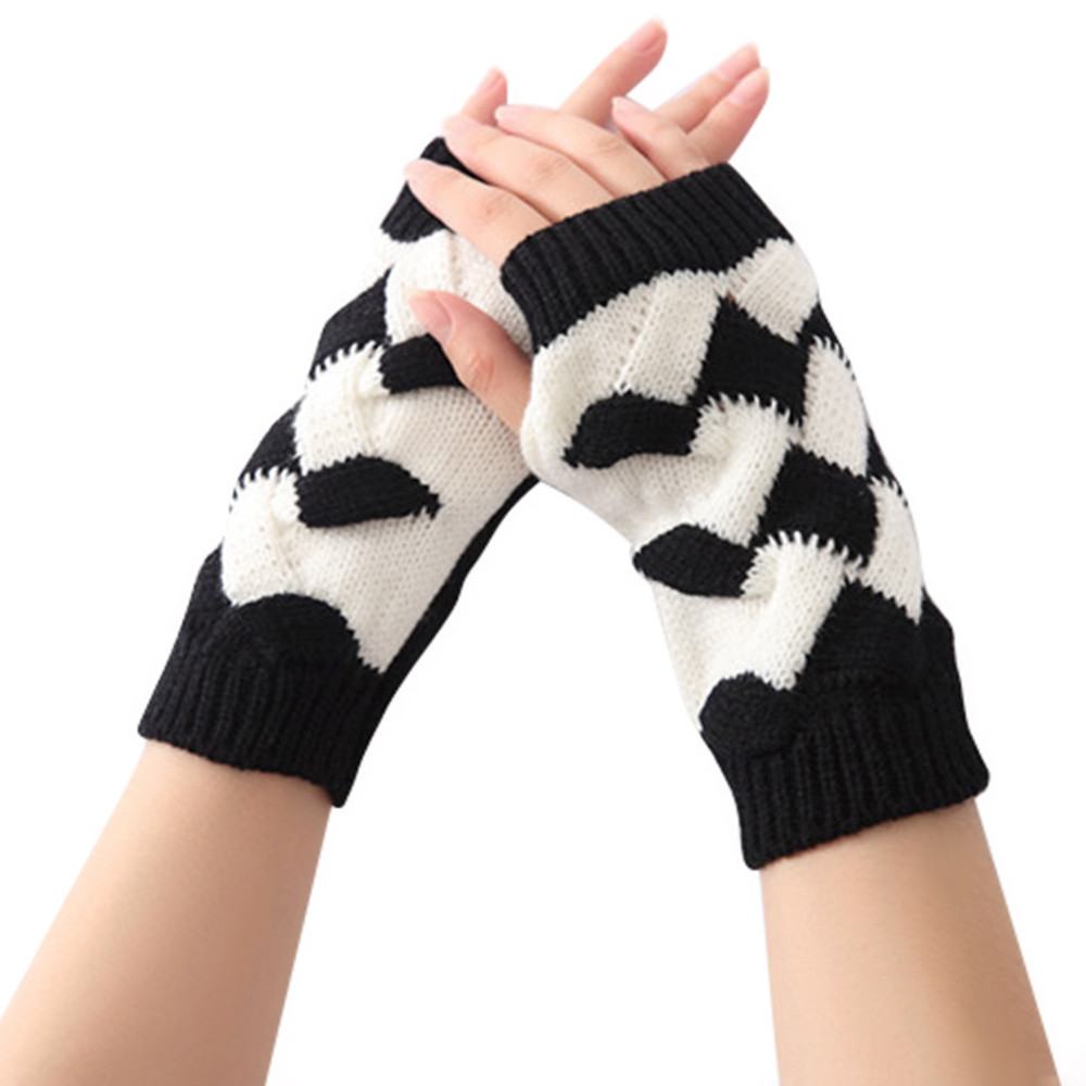 High Recommend More Funny Womens Winter Warm Knit Gloves luvas femininas para o inverno sport eldivendrop shopping