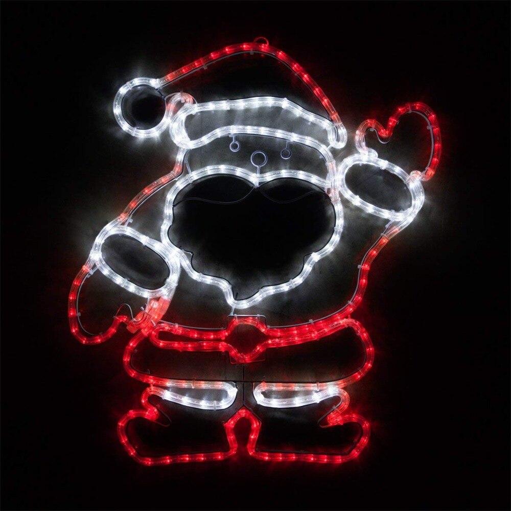 28 дюймов светодиодный двор Санта освещения открытый Санта украшения Санта Рождество наружное освещение Санта Клаус украшения двора