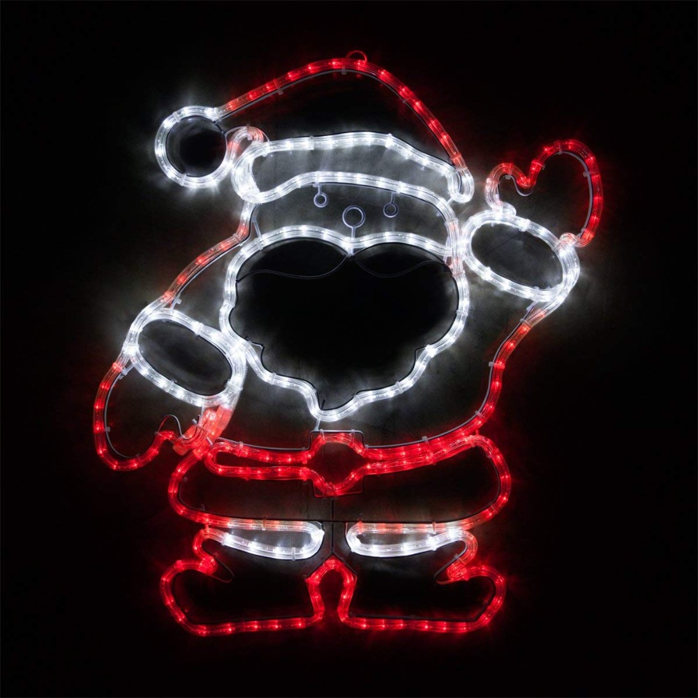 28 Inch LED Yard Santa Lighting Outdoor Santa Decorations Santa Christmas Outdoor Lights Santa Claus Yard Decorations santa claus holiday printed pillow case