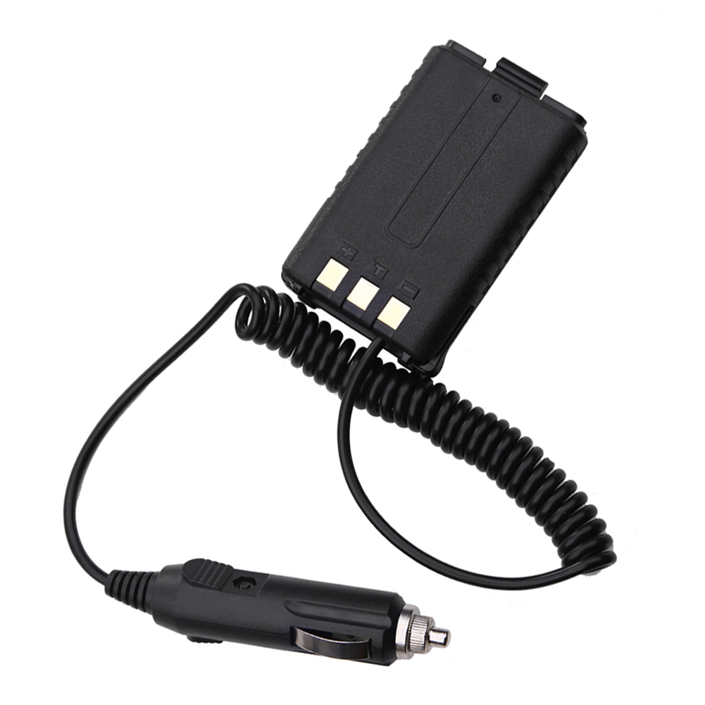 Alloet 1.48m 12V Walkie Talkie Car Charger Battery Eliminator For Baofeng Dual Band Radio UV5R 5RA 5RE