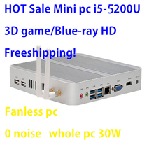 אינטל Broadwell i5 5200u/5250u אינטל HD גרפיקה 5500 I5 Fanless מיני מחשב Windows 7 win8 win10 VGA HDMI מיני Nettop Htpc