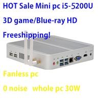 Intel Broadwell i5 5200u/5250u Intel HD graphics 5500 безвентиляторный I5 мини ПК Windows 7 win8 win10 VGA HDMI мини неттоп Htpc