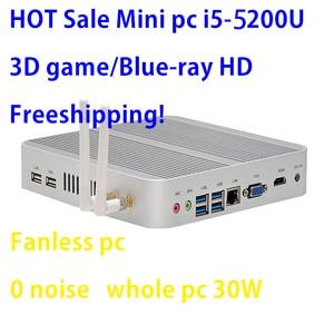 Image 1 - Intel Broadwell i5 5200u/5250u Intel HD Graphics 5500 Fanless I5 Mini Pc Windows 7 win8 win10 VGA HDMI Mini Nettop Htpc