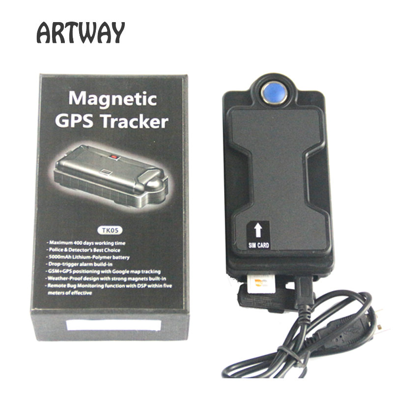 ФОТО 5000mAh magnetic GPS Tracker long battery life 3G GSM gprs tracker Google map Vehicle Locator TK05gse