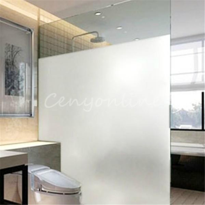 modern new 1pcs waterproof pvc privacy frosted stick glass window film home bedroom bathroom office decorative