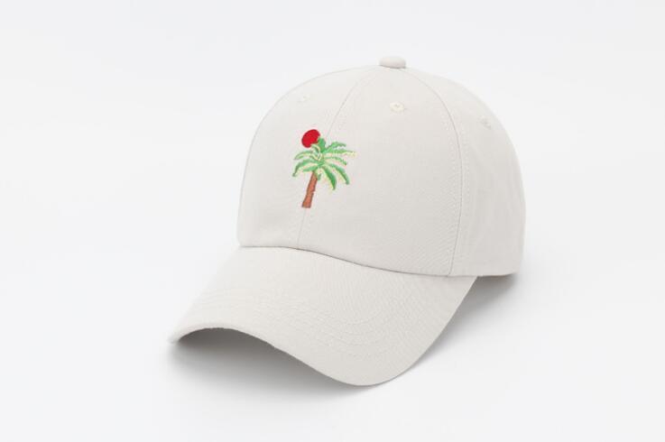 Prix pour 2016 Broderie Coréenne palm Coconut tree faire vieux casquette de baseball classique mâle femelle de golf chapeau de mode casquette à visière visière tout-allumette