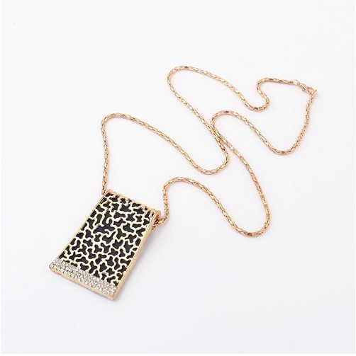 (Min order $10 mix) Europe and the United States retro fashion hollow geometric necklace, sweater chain+ FREE SHIPPING# 97743