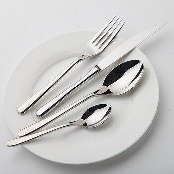 24Pcs/set Dinnerware Set Stainless Steel Silverware Tableware Luxury Cutlery Set Flatware Knife Fork Spoon Dishwasher Safe 1