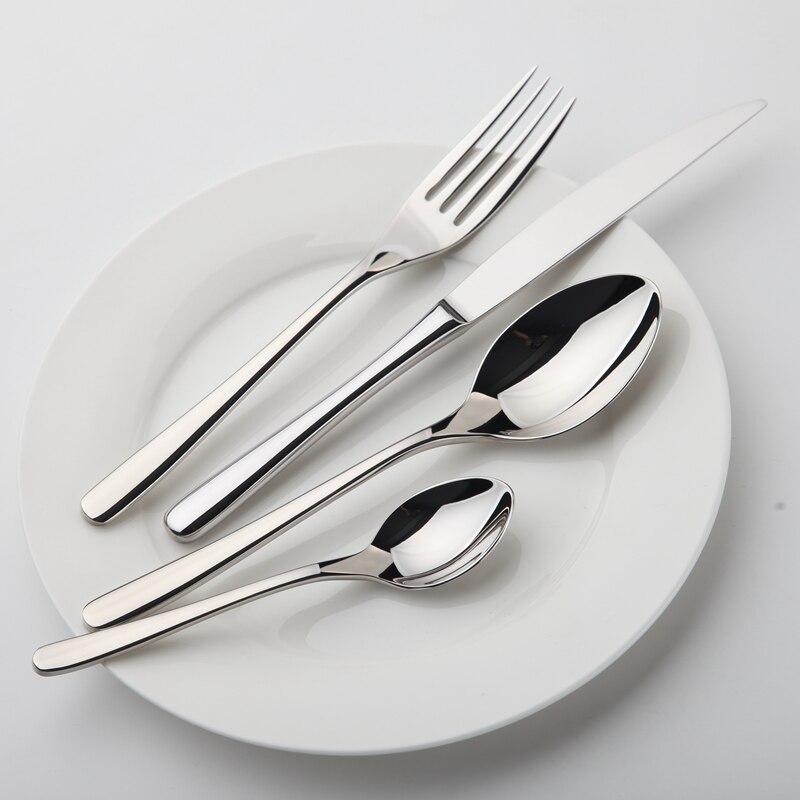 24 Pcs/Set Dinnerware Stainless Steel Silver Tableware Luxury Cutlery Set Vintage Quality Knife Forks Dinner Set Western Food