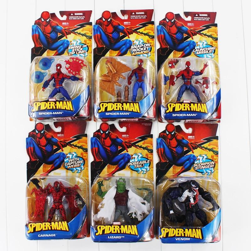 Color Boxed The Spideman Venom Carnage Lizard Pvc Figure Toy