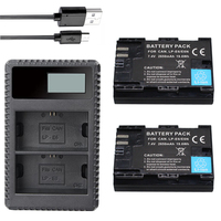 2PCS 2650mAh LP E6 LP E6 LP E6N Battery USB Charger For Canon EOS 5DS 5D