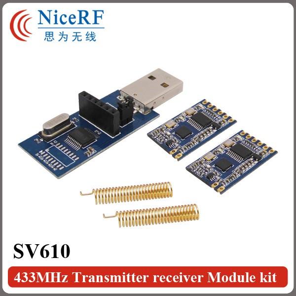 SV610+USB Bridge Board+SW433-TH22(Gold plating antenna)