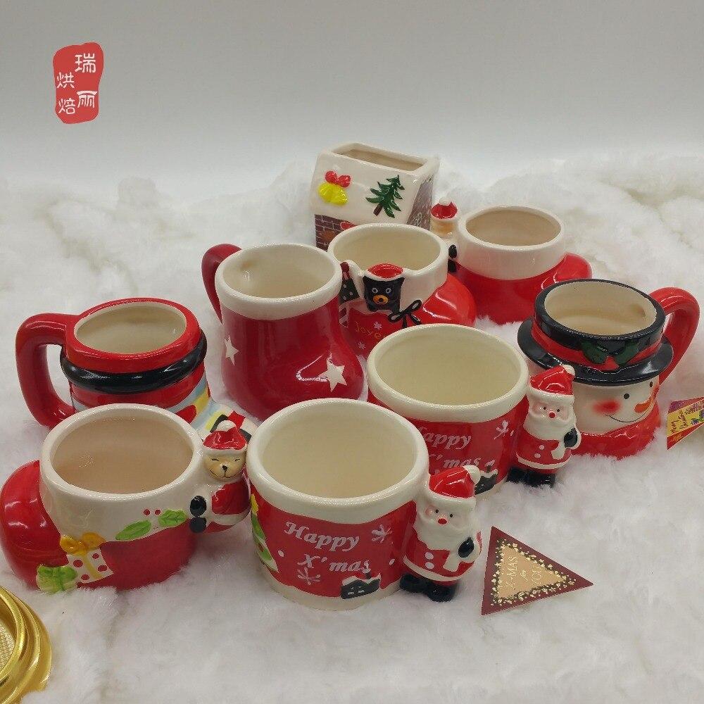 christmas set of christmas ceramics mug snowman mug dessert dessert mousse west mug pudding mug in mugs from home garden on aliexpresscom alibaba group - Christmas Ceramics