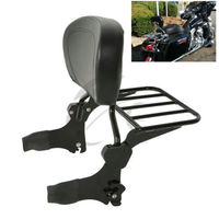 Motorcycle Backrest Sissy Bar Luggage Rack For Harley Road King Electra Street Glide Standard Classic Road Glide FLHX Carrier