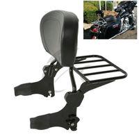 Motorcycle Backrest Sissy Bar Luggage Rack For Harley Road King Electra Street Glide Standard Classic Road Glide FLHX Carrier