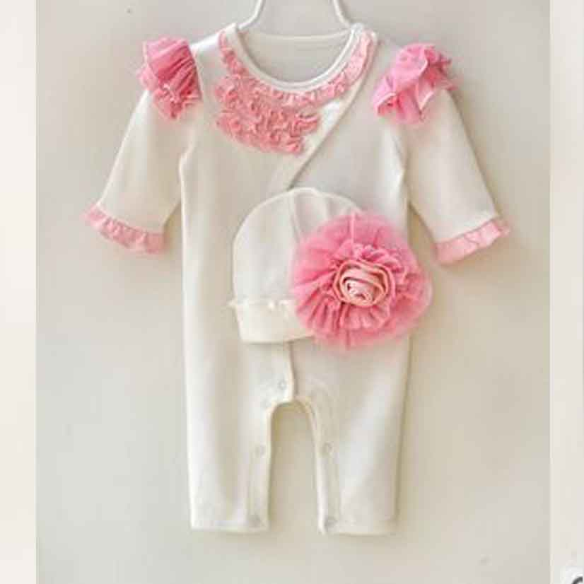 82ede1ef4 Lovely Cute Newborn 3 6 9 12 Month Bebe Girls Rompers For Babies ...