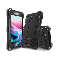 R Just Gundam Luxury Doom Armor Dirt Shock Waterproof Metal Aluminum Phone Bags Case For Iphone