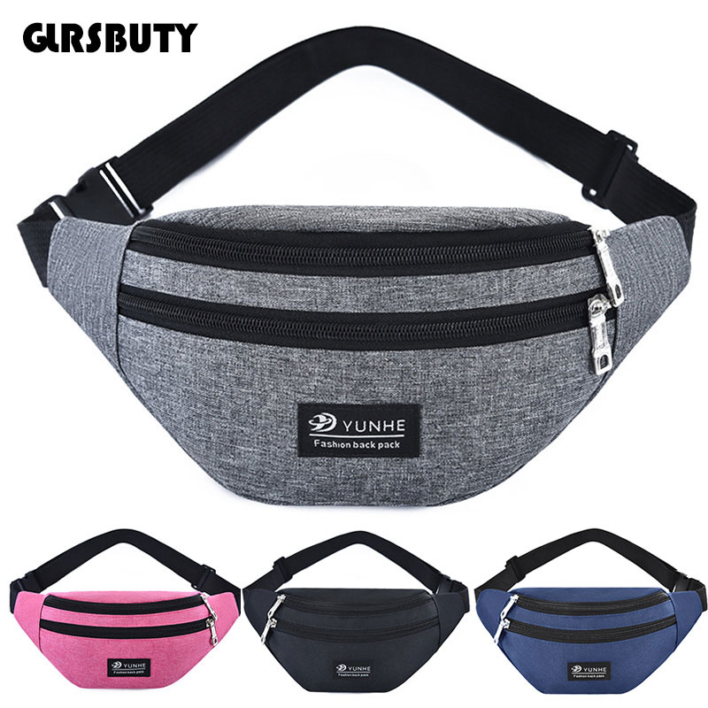 2019 Women Fanny Pack GLRSBUTY Fashion Men Waist Bag Colorful Travel Bum Belt Bag Phone Zipper Pouch Packs(China)