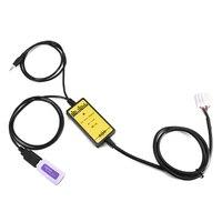 Новый Авто USB Aux кабель адаптер 2 * 6Pin аудио AUX разъем MP3-плеер Радио Интерфейс для Toyota Camry Corolla для большинства автомобиля
