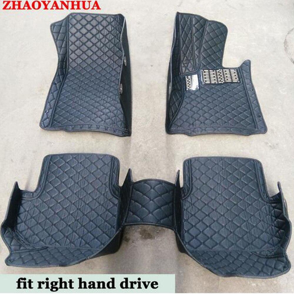 Right hand drive noleggio pavimento stuoie fatte per Toyota Camry Prado RAV4 Corolla Highlander copertura completa cassa del piede tappeti per auto styling carpe