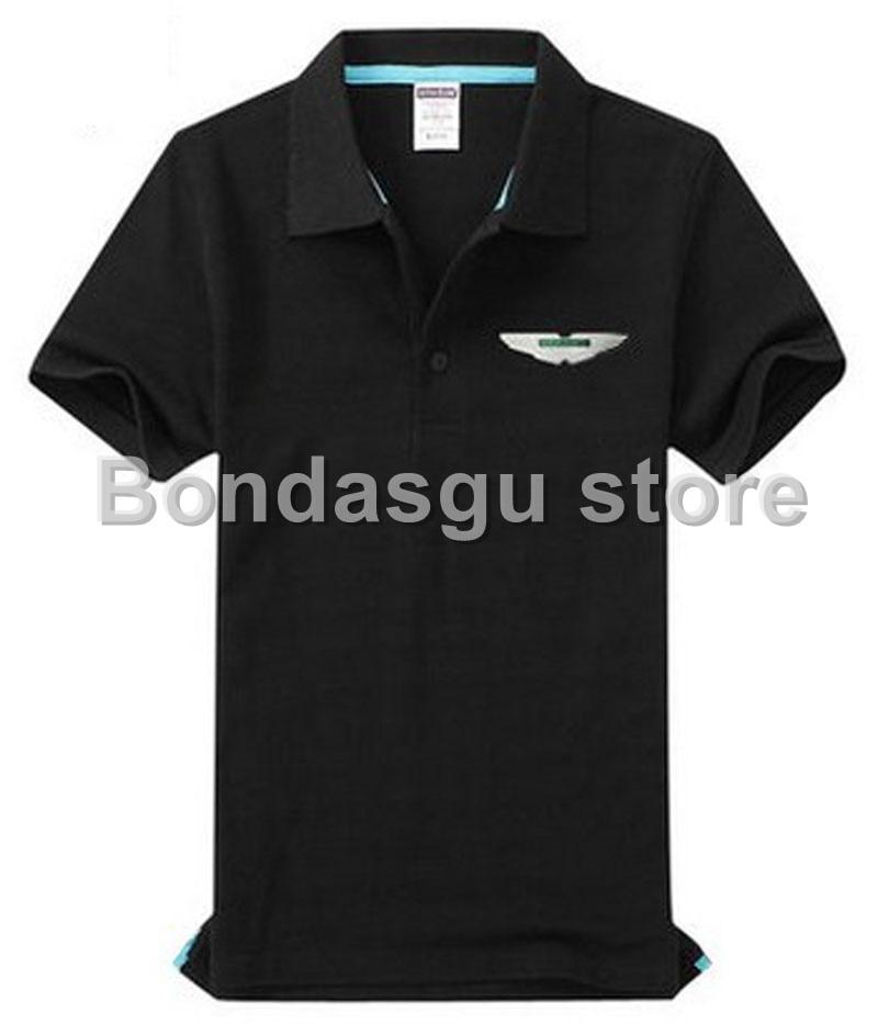 Brand Clothing Aston Martin Polo Shirt Solid Casual Polo Homme For - Aston martin clothing