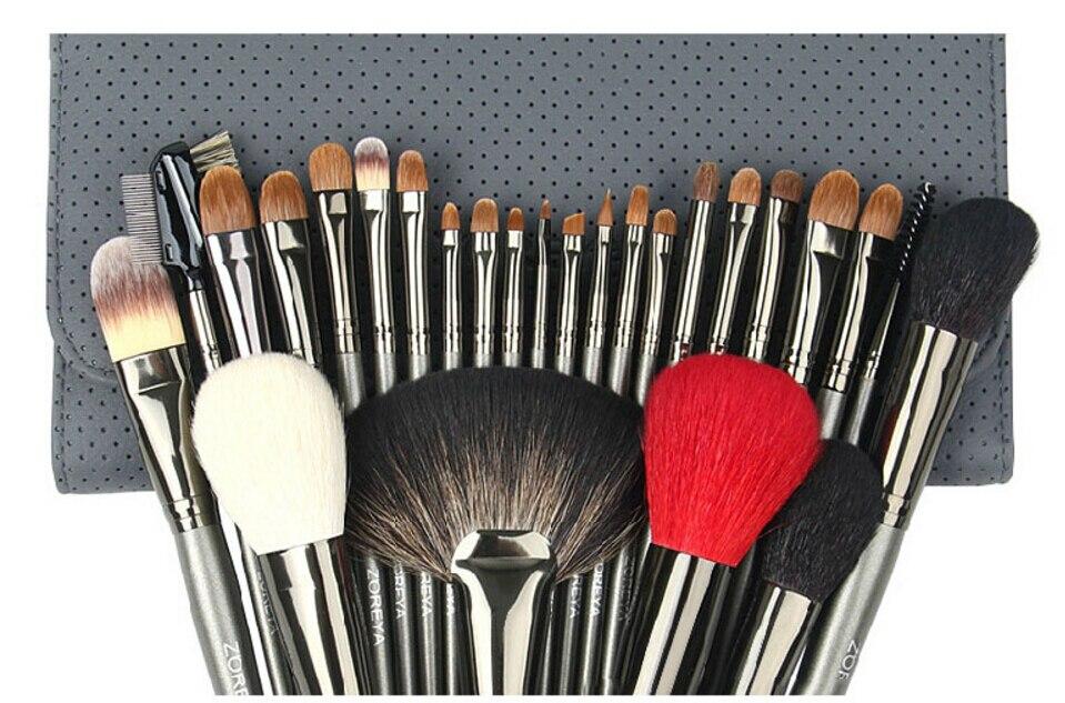 5 ensembles de pinceaux de maquillage de cheveux de Sable de haute qualité ensemble de brosse de maquillage professionnel avec sac cosmétique 26 pièces/ensemble