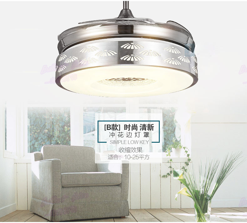 Quality Ceiling Fans High Quality Ceiling Fan Light Red: High Quality 4 Color Changing Light Modern LED Invisible