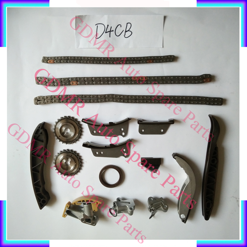 US $157 83 15% OFF|Engine D4CB timing chain kit for Hyundai H1 H200 Starex  Porter 2497CC 2 5CRDI-in Timing Components from Automobiles & Motorcycles