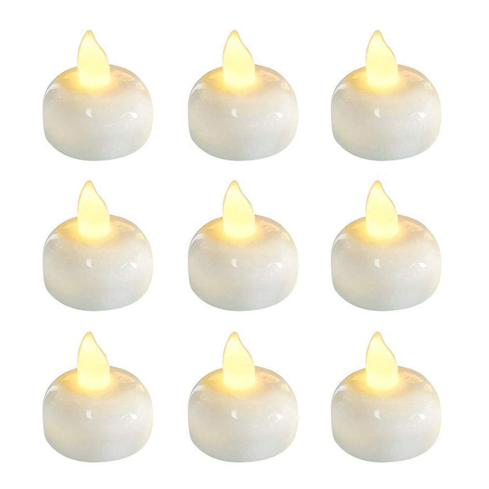 Pack of 6 Flickering Flameless Waterproof Candles Lamp Floating On <font><b>Water</b></font> Led Plastic Battery Operated Tea <font><b>Lights</b></font> For <font><b>Pool</b></font> Spa image